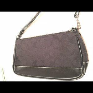 Coach Black Signature C-Logo Clutch Handbag